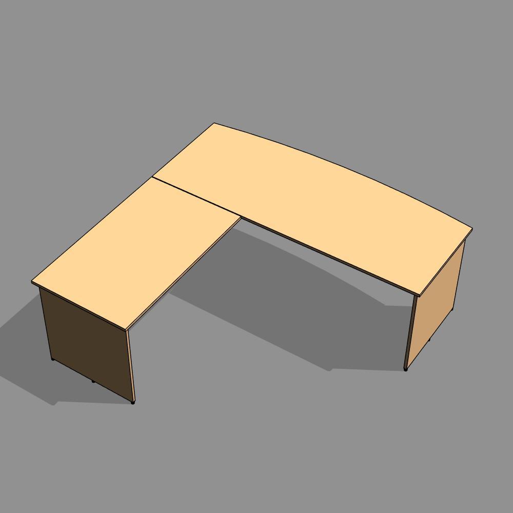 bureau en l. Black Bedroom Furniture Sets. Home Design Ideas